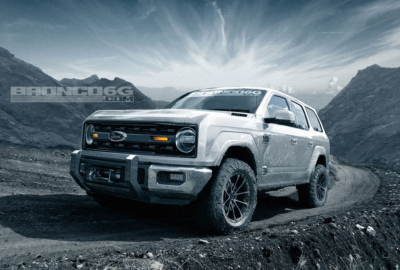 rendering 2020 ford bronco four door suv looks ready to conquer mountains autoevolution. Black Bedroom Furniture Sets. Home Design Ideas