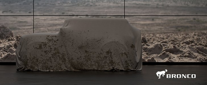 2020 Ford Bronco Shows Jeep Wrangler Proportions, Tailgate-Mounted Spare Wheel - autoevolution