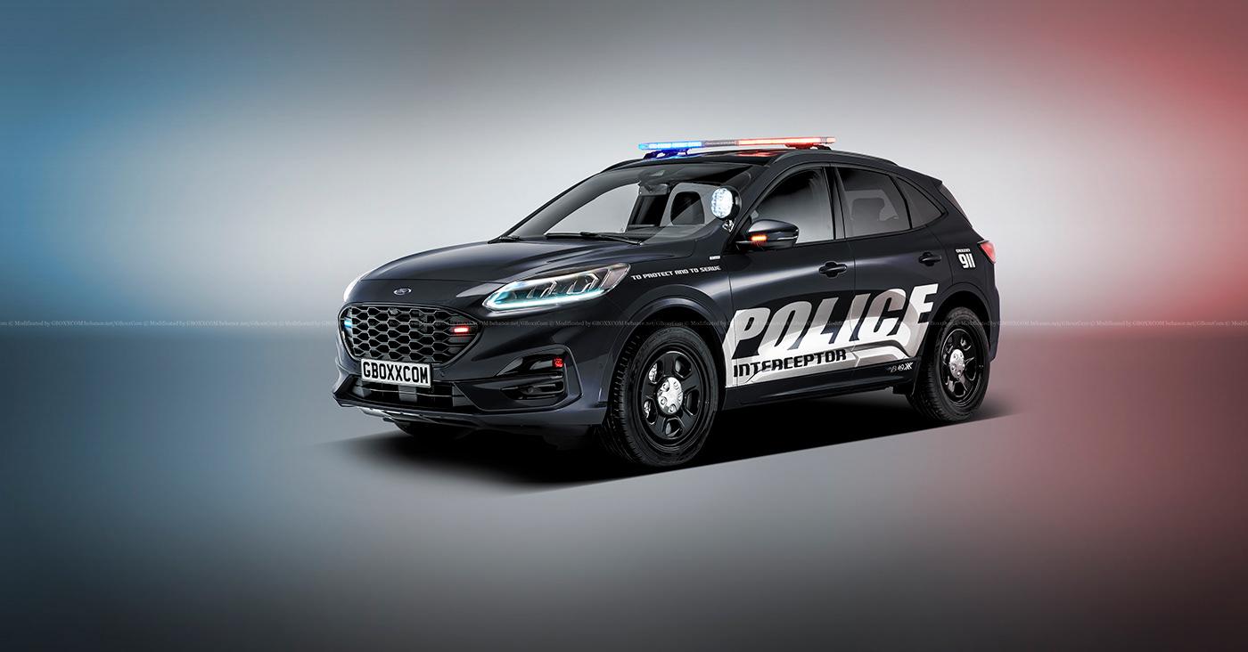 2020 Ford Escape / Kuga Police Interceptor Looks Like a Transformer - autoevolution