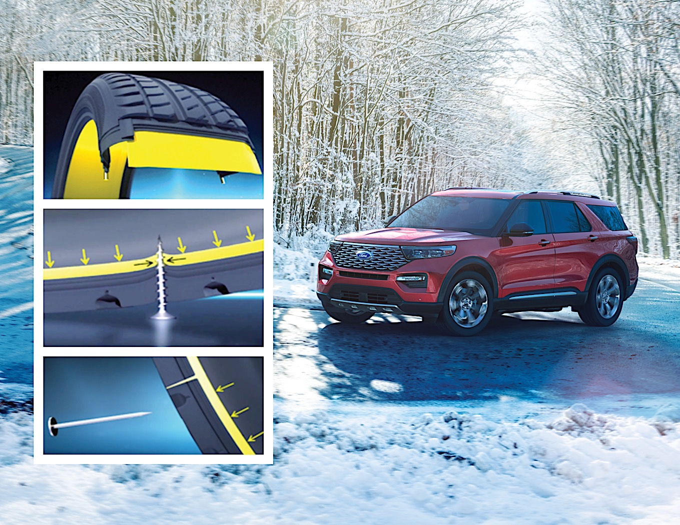 Ford Explorer Features Sci-Fi-Like Self-Healing Tires From Michelin