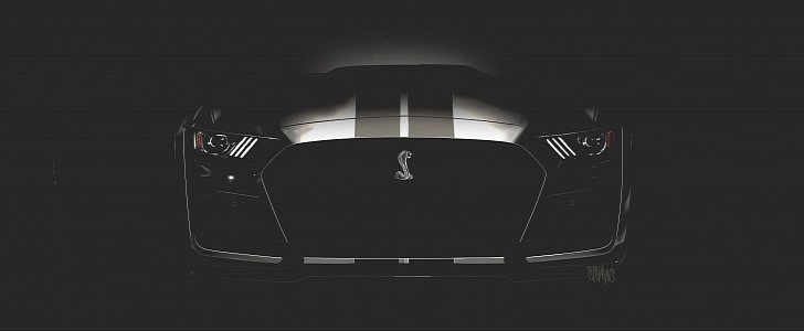 2020 Ford Mustang Shelby GT500 Teased Again, Has Pre-Facelift HID Headlights - autoevolution