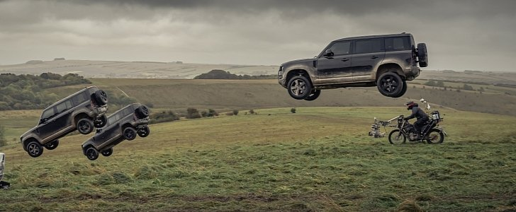 2020 Land Rover Defender Takes a Beating in 007 Ad – And Lives to Tell the Story - autoevolution