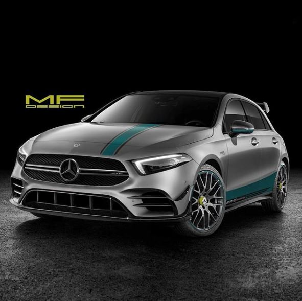 2020 mercedes amg a45 petronas rendered as the forbidden racing special autoevolution. Black Bedroom Furniture Sets. Home Design Ideas
