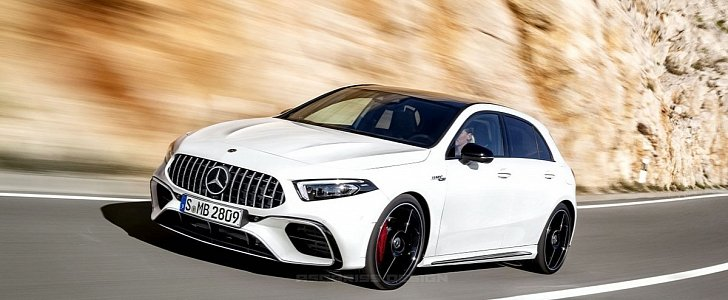 2019 Gle Coupe >> 2020 Mercedes-AMG A45 Rendered in Pure White for the Pure Pleasure of Your Eyes - autoevolution