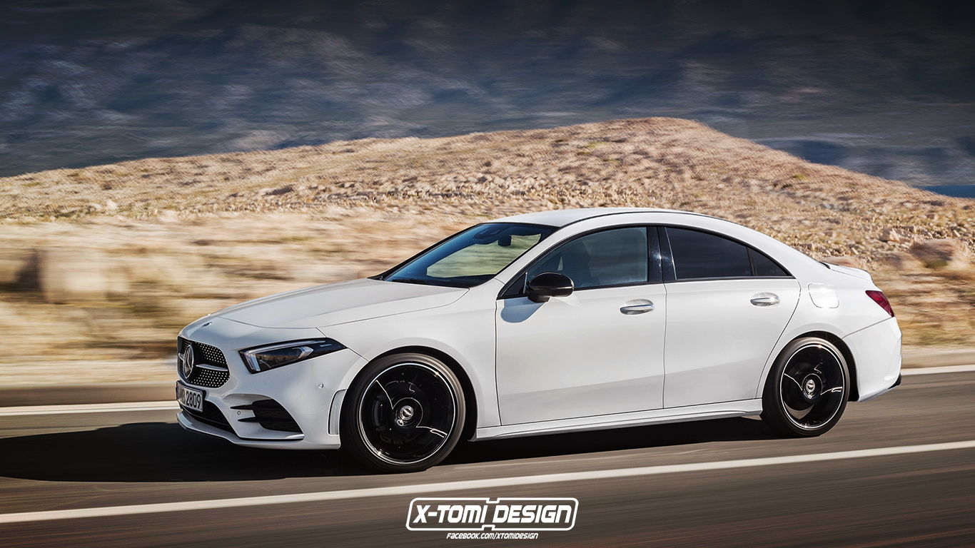 2020 mercedes benz cla rendering might as well be an