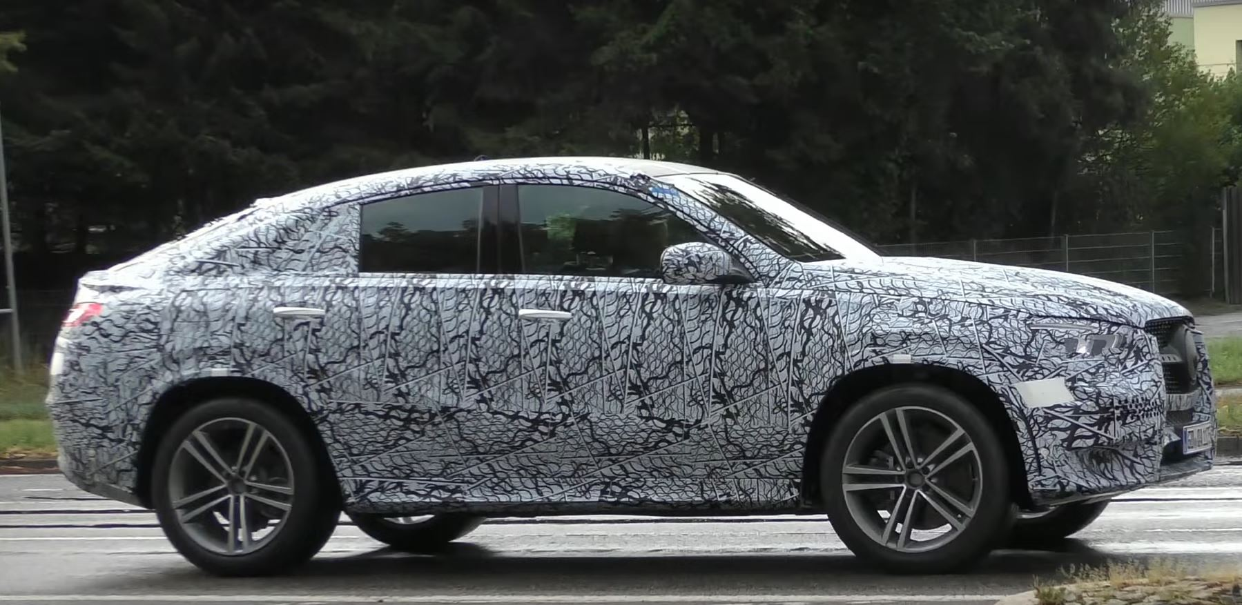 2020 mercedes benz gle coupe takes a stroll in germany