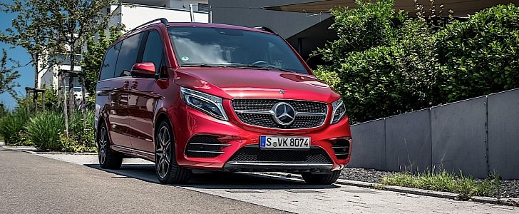 2020 mercedes benz v class puts on the fancy red dress for frankfurt motor show autoevolution 2020 mercedes benz v class puts on the