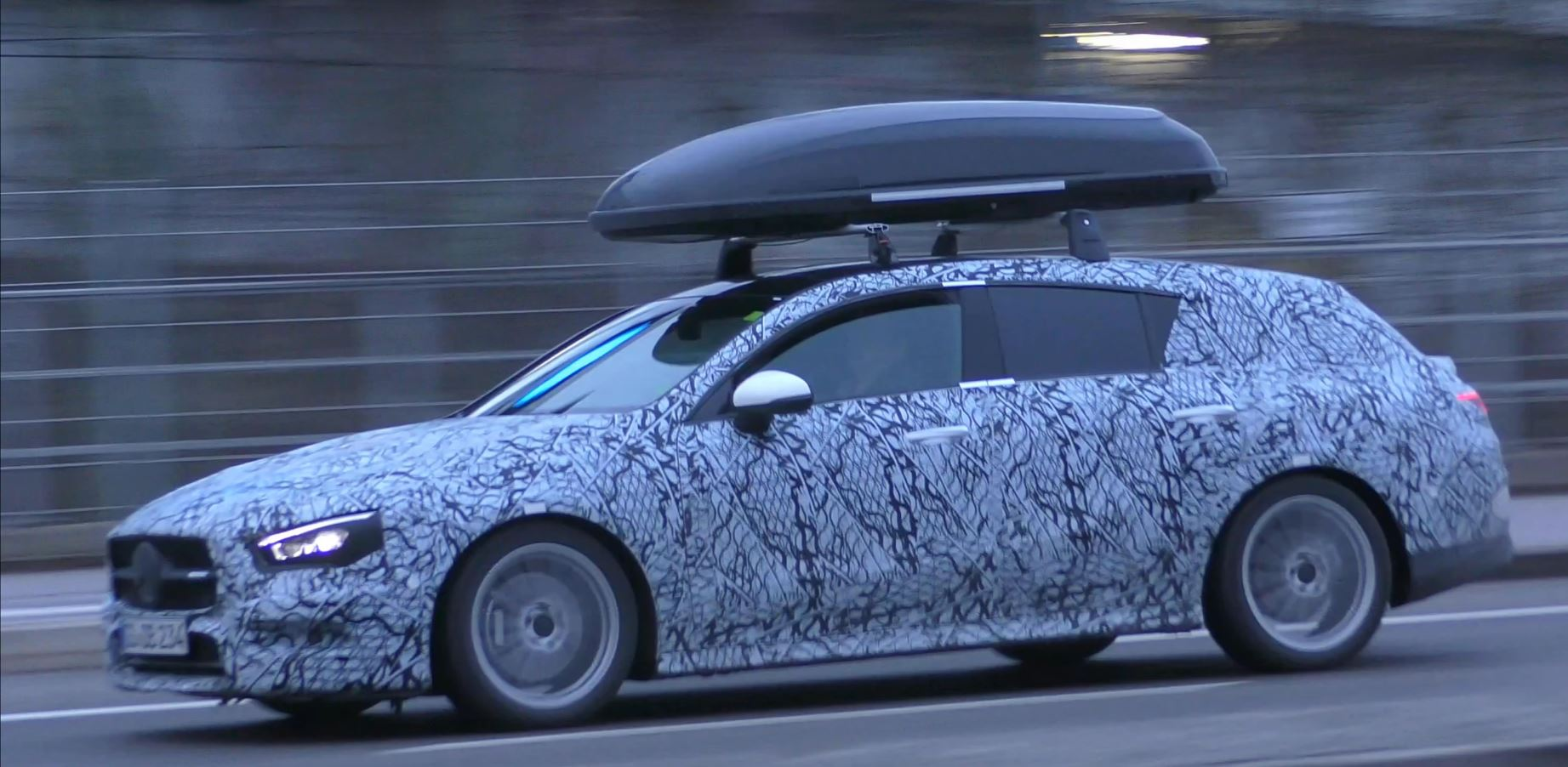 2020 mercedes cla shooting brake spied with roof box. Black Bedroom Furniture Sets. Home Design Ideas