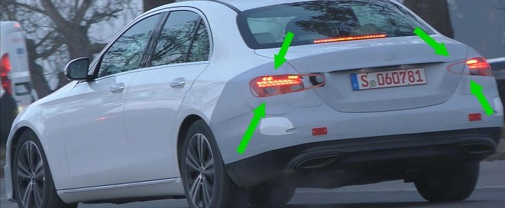 2020 mercedes e class spy video confirms long taillights for facelift autoevolution. Black Bedroom Furniture Sets. Home Design Ideas