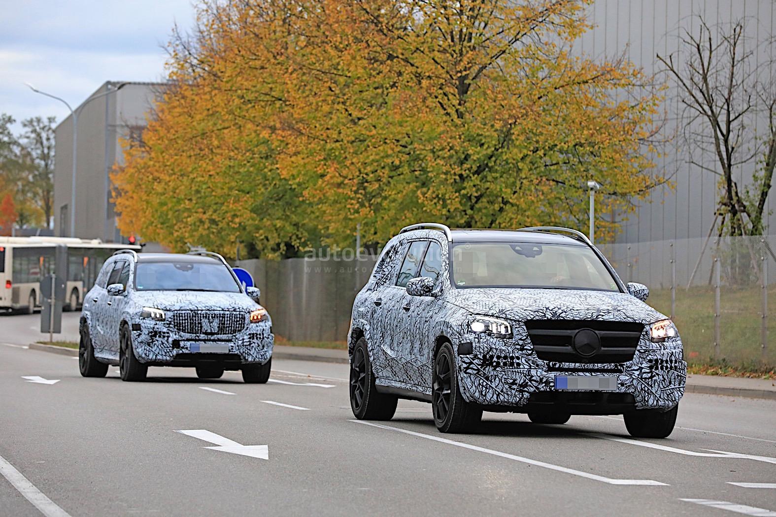 ac60e9f2c10 2020 Mercedes-Maybach GLS Meets Mercedes-Benz GLS in Rare Spyshots ...