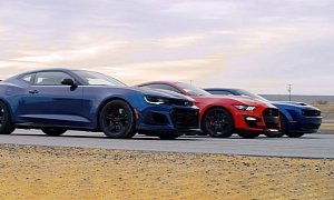 2020 Mustang Shelby GT500 Drag Races Hellcat Redeye and Camaro ZL1 1LE