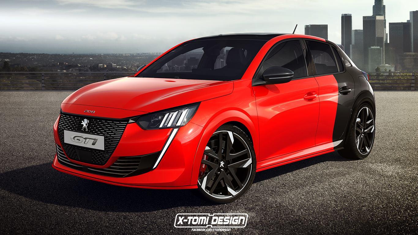 2020 peugeot 208 gti rendering looks juicy - autoevolution