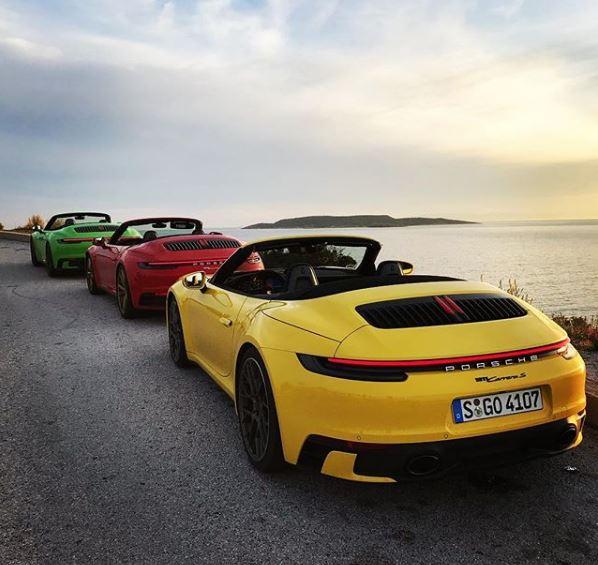 2020 Porsche 911 Cabriolet Trio Shows The Big Rainbow