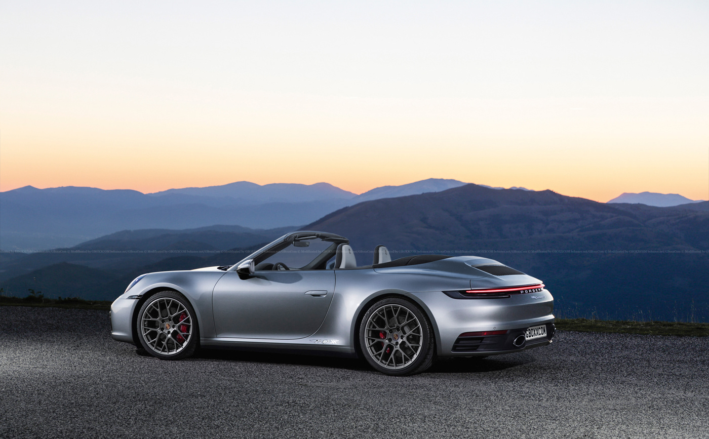 2020 porsche 911 carrera 4s cabrio rendering looks good. Black Bedroom Furniture Sets. Home Design Ideas