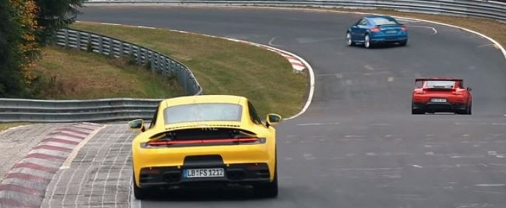 2020 Porsche 911 Chases GT2 RS MR on Nurburgring, The Speed Is Staggering