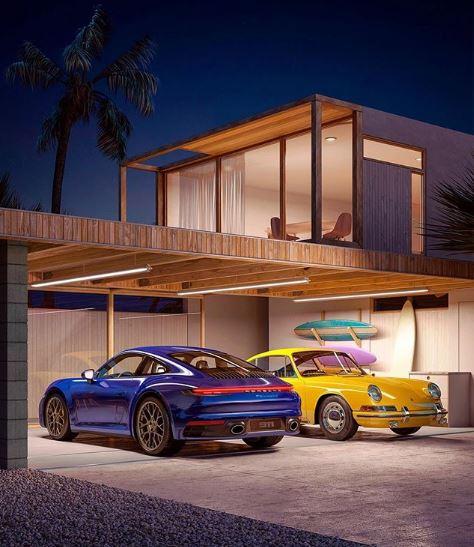 2020 Porsche 911 Meets Original 911 In Glossy Art