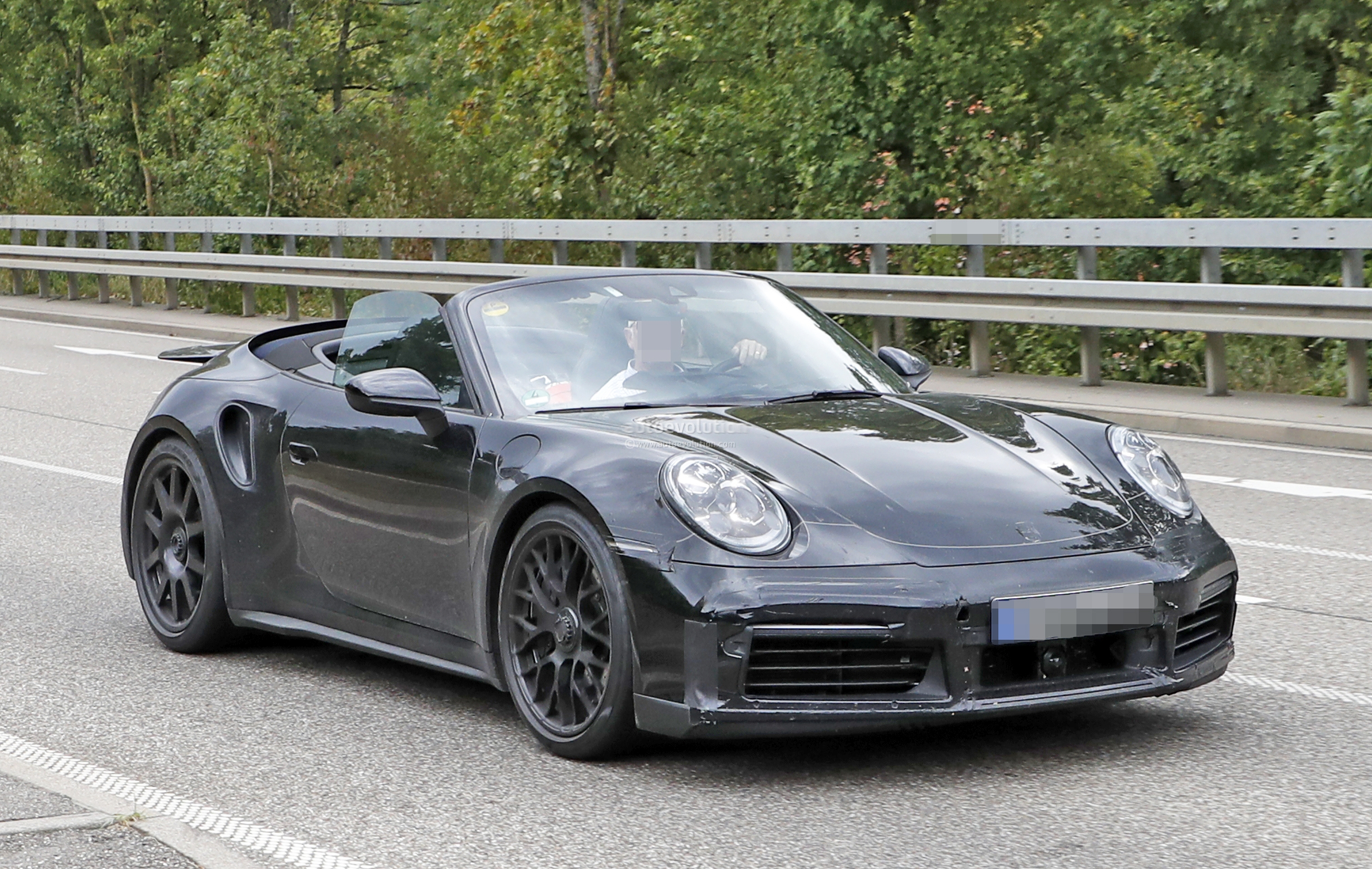 2020 Porsche 911 Turbo Cabriolet Spotted With Top Down Looks