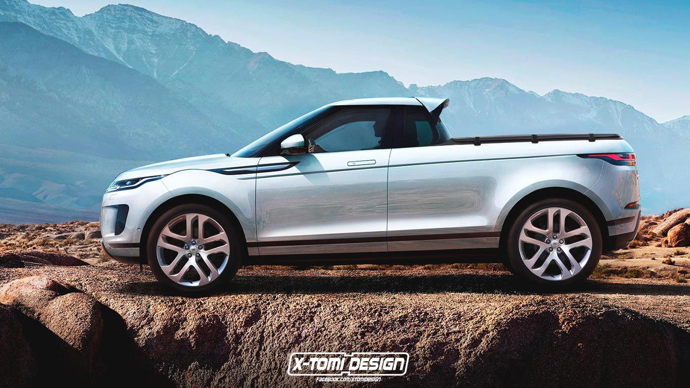 2020 Range Rover Evoque Pickup Rendering Is a Mess ...