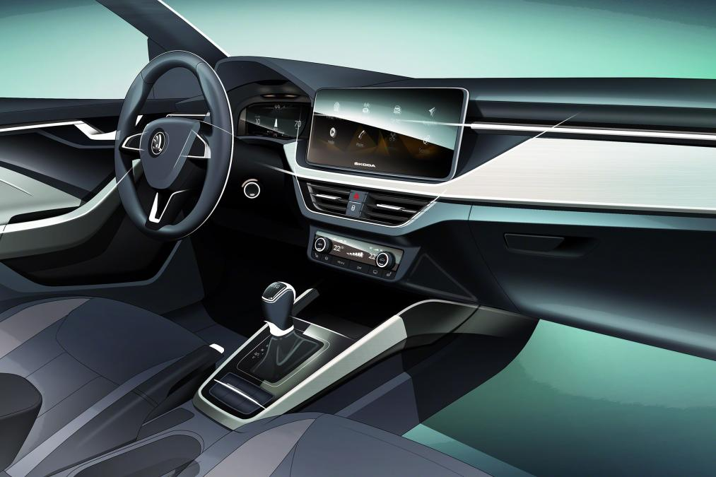 Skoda Scala interior teased