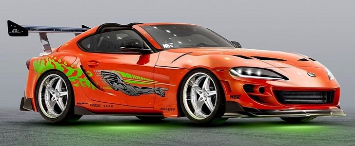 2020 Supra Gets Vintage Face and Fast & Furious Livery, Is a Paul Walker Tribute