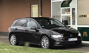 2019 Volkswagen Golf VIII Photographed Without Camouflage At McDonald's