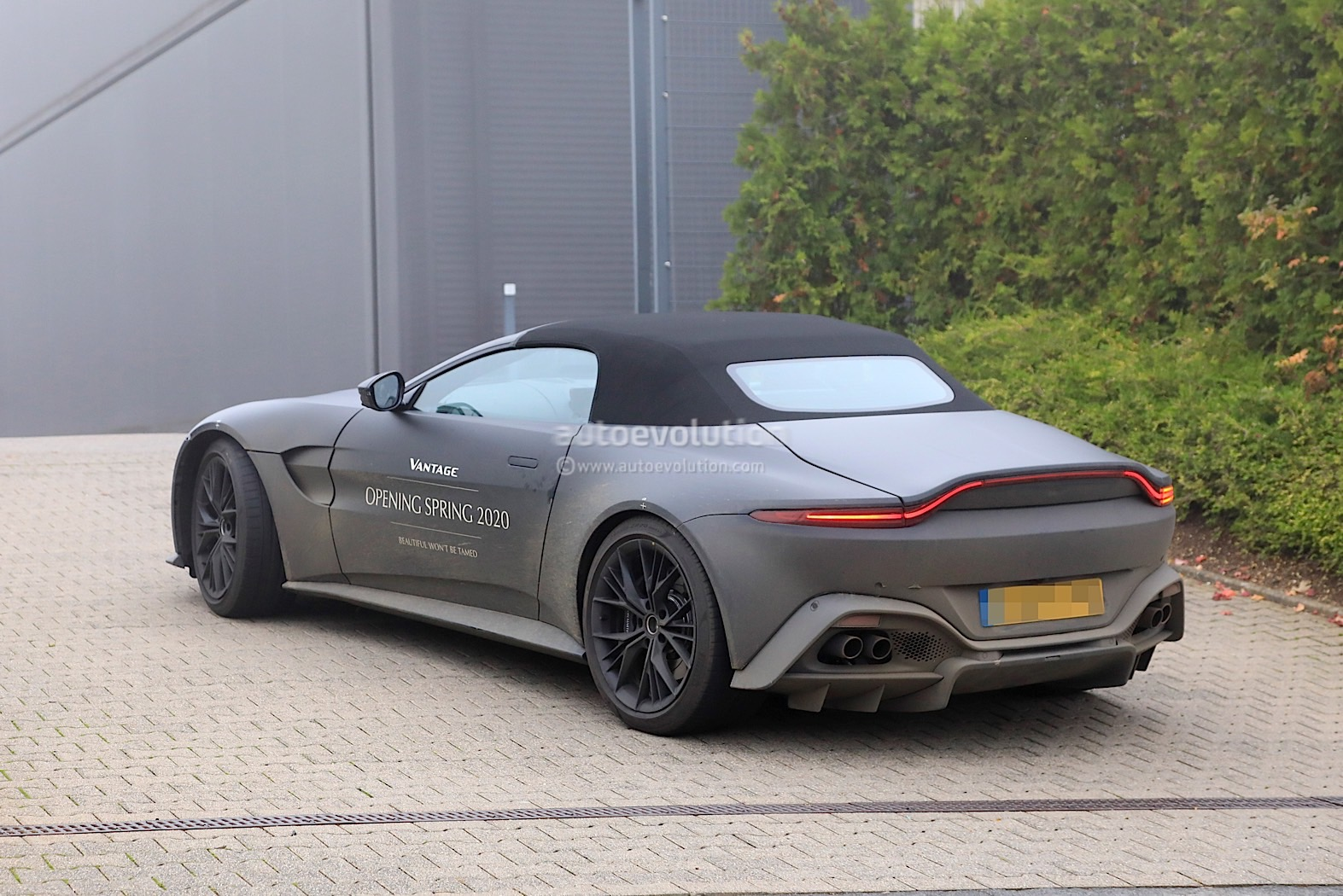 2021 Aston Martin Vantage Roadster Prototype Spied In Birthday Suit Autoevolution