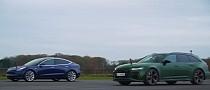 2021 Audi RS6 Drag Races Tesla Model 3 Performance, Humiliation Follows