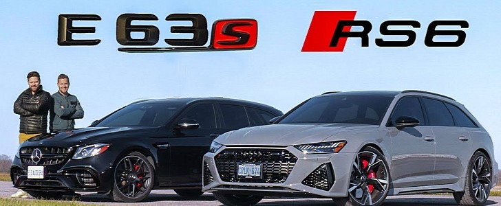 2021 Audi RS6 Smashes Mercedes-AMG E63 S in a Drag Race After On-Track Tuning - autoevolution