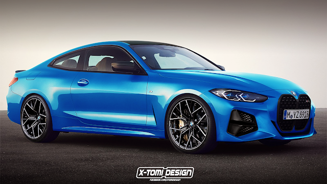 2021 BMW M4 CGI Looks Sharp in Blue, Could Pack Hybrid ...