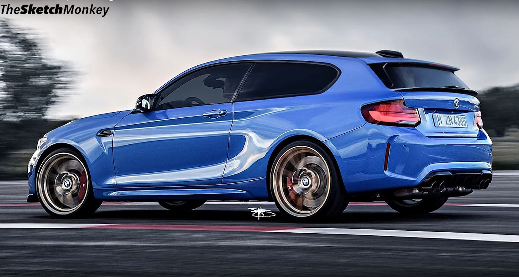 2021 Bmw Z3 M Coupe Modern Clown Shoe Based On M2 Is Very Different Autoevolution