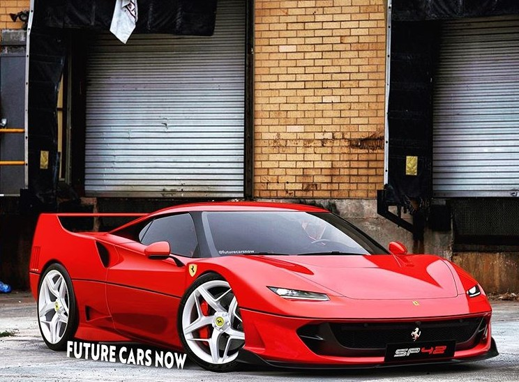 2021 ferrari sp42 already imagined as revived f40 based on