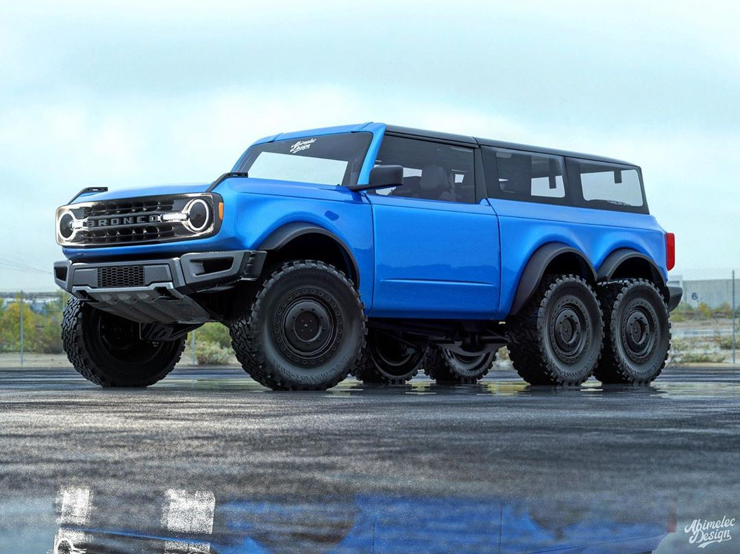 "2021 ford bronco ""6x6"" looks like a dune blaster"