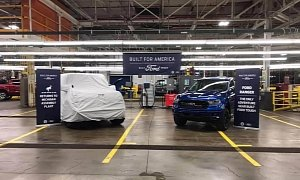 2021 Ford Bronco Photographed Under Cover at Michigan Plant, Debut Imminent