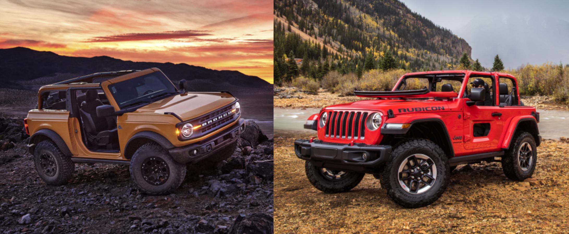 2021 ford bronco vs jeep wrangler comparison which one