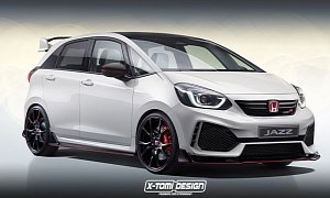 2021 Honda Jazz Type R Rendered, Rumored With Four-Cylinder Turbo Engine