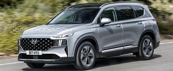 2021 Hyundai Santa Fe Refresh Will Look Crazy Autoevolution