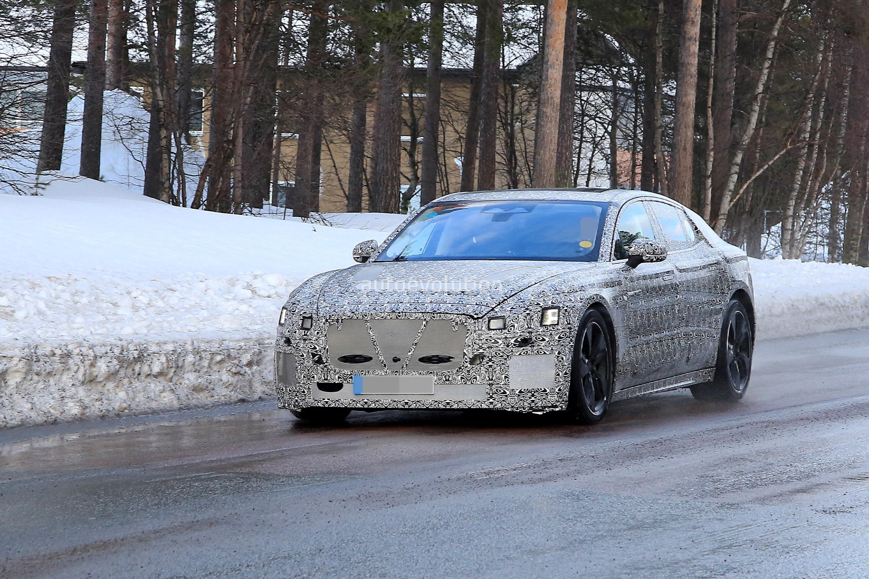 2021 jaguar xj spied braving the cold ev prototype sports