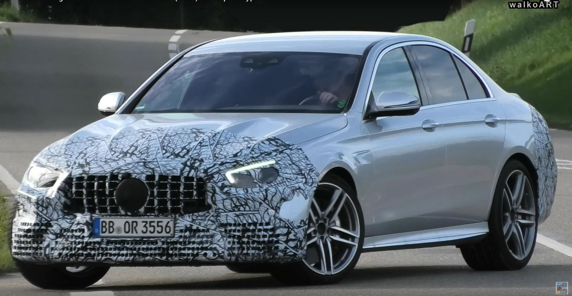 2021 Mercedes Amg E63 Sedan Facelift Spied In Germany Has New Grille Autoevolution