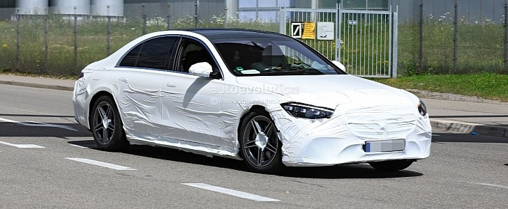 2021 Mercedes-Benz S-Class W223 Prototype Reveals Headlights and Taillights - autoevolution