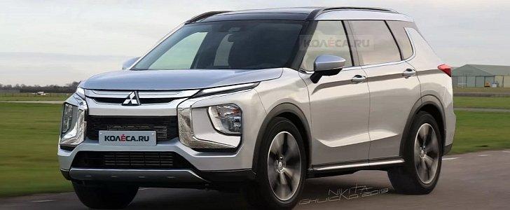 2021 Mitsubishi Outlander Rendering Reveals Futuristic Look