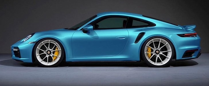 2021 Porsche 911 Turbo S Slammed On Anrky Wheels Looks Sleek Autoevolution