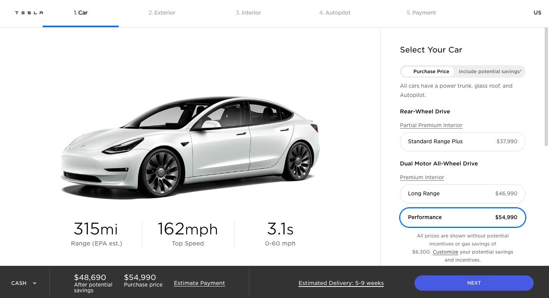 2021 Tesla Model 3 Gets Up to 353 Miles Max Range ...