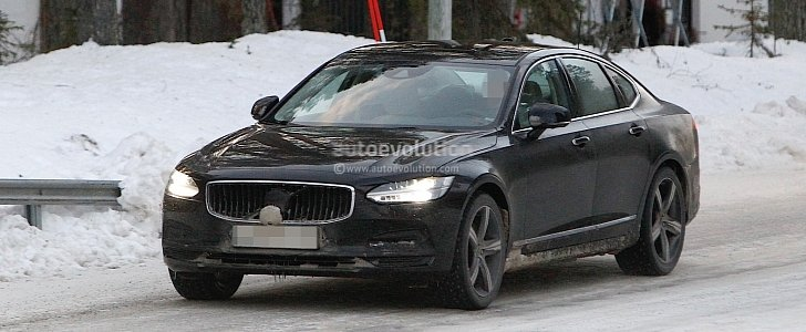 2021 volvo s90 and v90 facelift wear useless camouflage