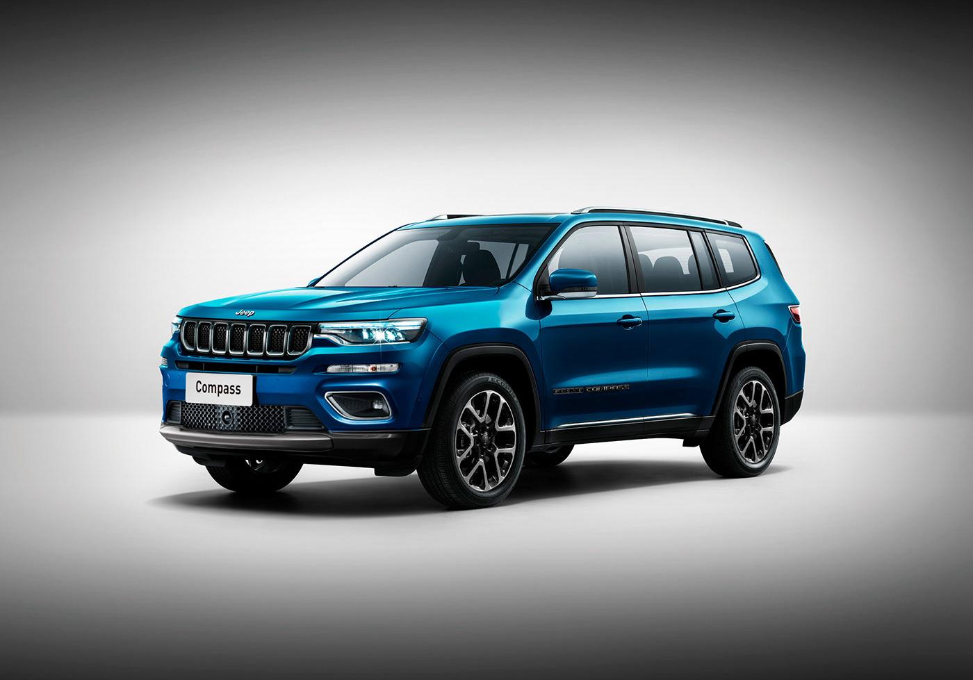 2022 jeep compass rendered, grand compass three-row suv
