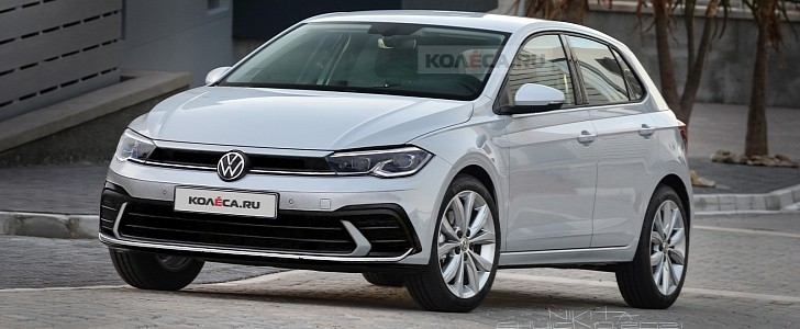 2022 Volkswagen Polo Facelift Gets Accurately Rendered, Looks Like a Mini Golf 8