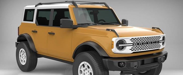 2021 Ford Bronco 3D Model Lets Non-Factory Hues Loose  image
