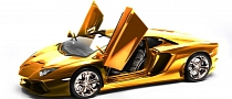 $4.7M Gold Lamborghini Aventador Model to Be Auctioned