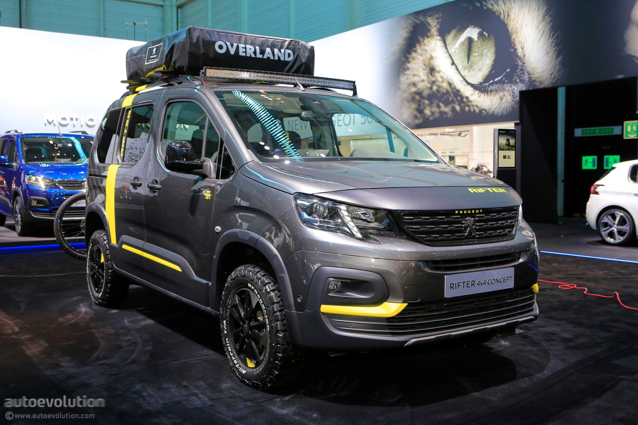 4x4 concept keeps the 2018 peugeot rifter company in geneva