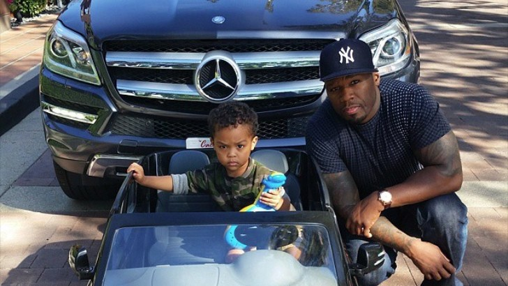 Image result for 50 cent with his son