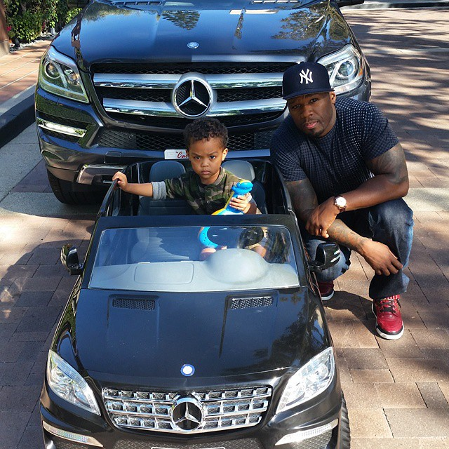 50 Cent Buys His 2-Year-Old Son A Mini-Mercedes ML